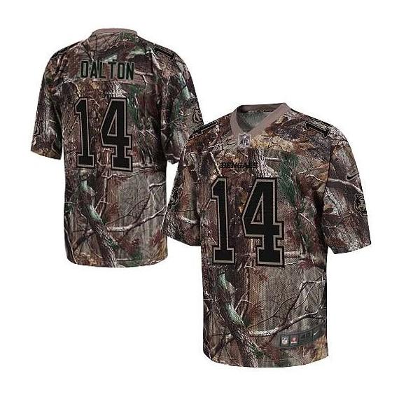 Cincinnati Bengals Andy Dalton Official Nike Camo Elite Adult Realtree NFL Jersey