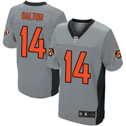 Cincinnati Bengals Andy Dalton Official Nike Grey Shadow Elite Adult NFL Jersey