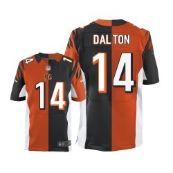 Cincinnati Bengals Andy Dalton Official Nike Two Tone Elite Adult Team/Alternate NFL Jersey