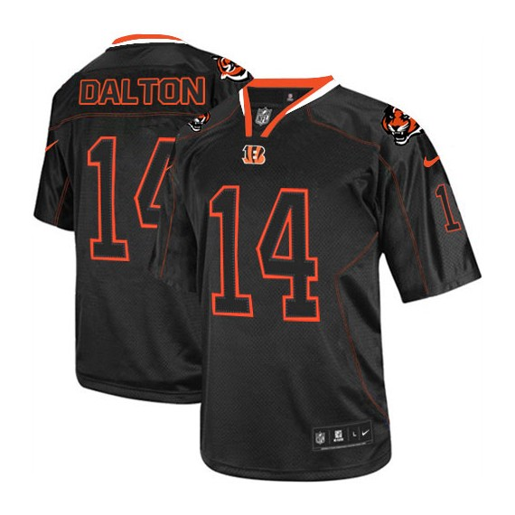 Cincinnati Bengals Andy Dalton Official Nike Lights Out Black Elite Adult NFL Jersey