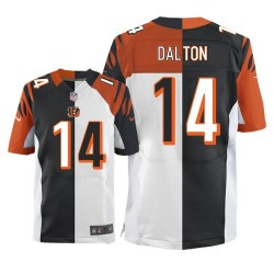 Cincinnati Bengals Andy Dalton Official Nike Two Tone Elite Adult Team/Road NFL Jersey