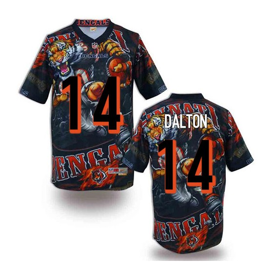 Cincinnati Bengals Andy Dalton Official Nike Black Elite Adult Fanatical Version NFL Jersey