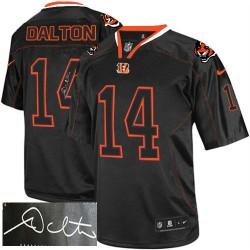 Cincinnati Bengals Andy Dalton Official Nike Lights Out Black Elite Adult Autographed NFL Jersey