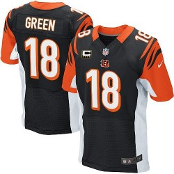 Cincinnati Bengals A.J. Green Official Nike Black Elite Adult Home C Patch NFL Jersey