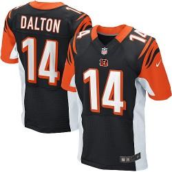 Cincinnati Bengals Andy Dalton Official Nike Black Elite Adult Home NFL Jersey