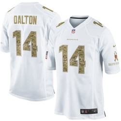 Cincinnati Bengals Andy Dalton Official Nike White Elite Adult Salute to Service NFL Jersey