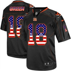 Cincinnati Bengals A.J. Green Official Nike Black Elite Adult USA Flag Fashion NFL Jersey