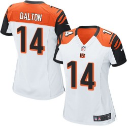 Cincinnati Bengals Andy Dalton Official Nike White Game Women's Road NFL Jersey
