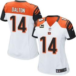 Cincinnati Bengals Andy Dalton Official Nike White Elite Women's Road C Patch NFL Jersey