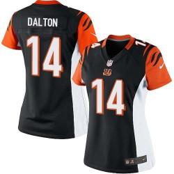 Cincinnati Bengals Andy Dalton Official Nike Black Limited Women's Home NFL Jersey