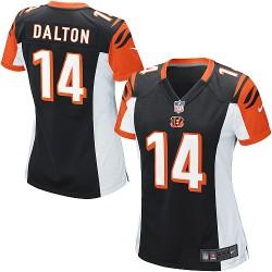Cincinnati Bengals Andy Dalton Official Nike Black Game Women's Home NFL Jersey