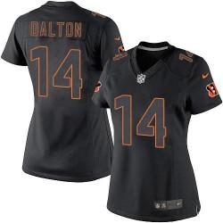 Cincinnati Bengals Andy Dalton Official Nike Black Impact Elite Women's NFL Jersey