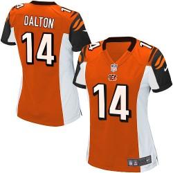Cincinnati Bengals Andy Dalton Official Nike Orange Limited Women's Alternate NFL Jersey