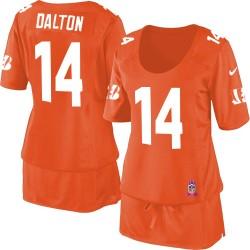 Cincinnati Bengals Andy Dalton Official Nike Orange Limited Women's Breast Cancer Awareness NFL Jersey