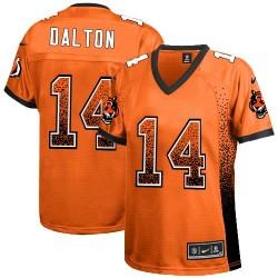 Cincinnati Bengals Andy Dalton Official Nike Orange Limited Women's Drift Fashion NFL Jersey