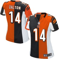 Cincinnati Bengals Andy Dalton Official Nike Two Tone Limited Women's Team/Alternate NFL Jersey