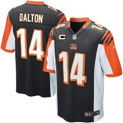 Cincinnati Bengals Andy Dalton Official Nike Black Elite Youth Home C Patch NFL Jersey