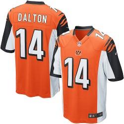Cincinnati Bengals Andy Dalton Official Nike Orange Game Youth Alternate NFL Jersey