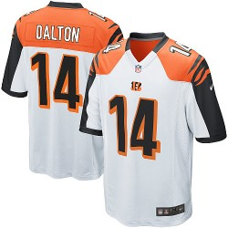 Cincinnati Bengals Andy Dalton Official Nike White Game Youth Road NFL Jersey