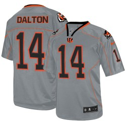 Cincinnati Bengals Andy Dalton Official Nike Lights Out Grey Elite Youth NFL Jersey