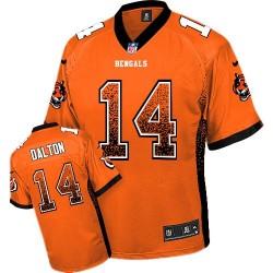 Cincinnati Bengals Andy Dalton Official Nike Orange Elite Youth Drift Fashion NFL Jersey