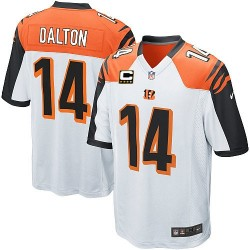 Cincinnati Bengals Andy Dalton Official Nike White Elite Youth Road C Patch NFL Jersey