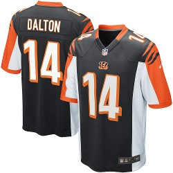 Cincinnati Bengals Andy Dalton Official Nike Black Game Youth Home NFL Jersey