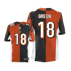 Cincinnati Bengals A.J. Green Official Nike Two Tone Elite Adult Team/Alternate NFL Jersey