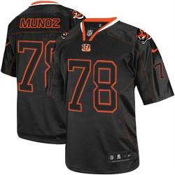 Cincinnati Bengals Anthony Munoz Official Nike Lights Out Black Elite Adult NFL Jersey