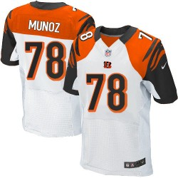 Cincinnati Bengals Anthony Munoz Official Nike White Elite Adult Road NFL Jersey