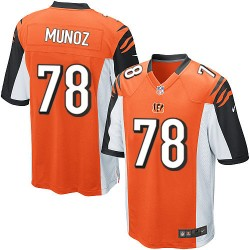 Cincinnati Bengals Anthony Munoz Official Nike Orange Game Adult Alternate NFL Jersey