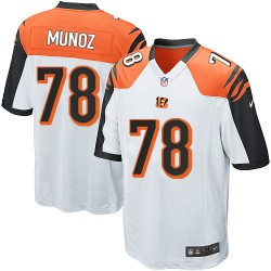 Cincinnati Bengals Anthony Munoz Official Nike White Game Adult Road NFL Jersey