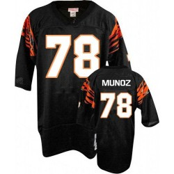 Cincinnati Bengals Anthony Munoz Official Mitchell and Ness Black Authentic Adult Home Throwback NFL Jersey