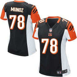 Cincinnati Bengals Anthony Munoz Official Nike Black Game Women's Home NFL Jersey
