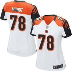Cincinnati Bengals Anthony Munoz Official Nike White Game Women's Road NFL Jersey