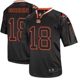 Cincinnati Bengals A.J. Green Official Nike Lights Out Black Elite Adult NFL Jersey