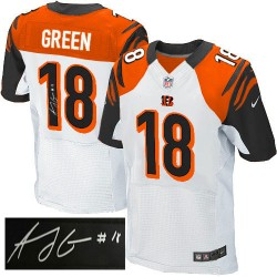 Cincinnati Bengals A.J. Green Official Nike White Elite Adult Autographed Road NFL Jersey