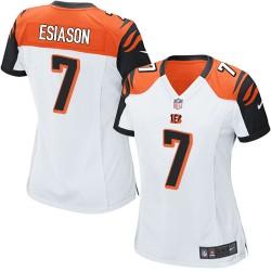 Cincinnati Bengals Boomer Esiason Official Nike White Elite Women's Road NFL Jersey