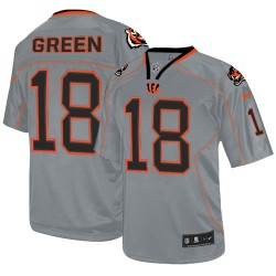 Cincinnati Bengals A.J. Green Official Nike Lights Out Grey Elite Adult NFL Jersey