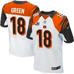 Cincinnati Bengals A.J. Green Official Nike White Elite Adult Road C Patch NFL Jersey