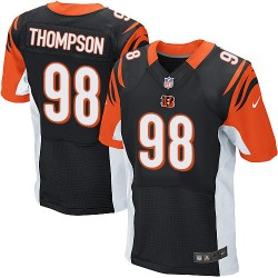 Cincinnati Bengals Brandon Thompson Official Nike Black Elite Adult Home NFL Jersey