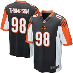Cincinnati Bengals Brandon Thompson Official Nike Black Game Adult Home NFL Jersey
