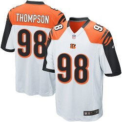 Cincinnati Bengals Brandon Thompson Official Nike White Game Adult Road NFL Jersey