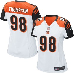 Cincinnati Bengals Brandon Thompson Official Nike White Game Women's Road NFL Jersey