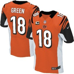 Cincinnati Bengals A.J. Green Official Nike Orange Elite Adult Alternate C Patch NFL Jersey