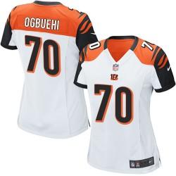 Cincinnati Bengals Cedric Ogbuehi Official Nike White Elite Women's Road NFL Jersey