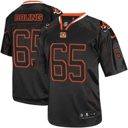 Cincinnati Bengals Clint Boling Official Nike Lights Out Black Elite Adult NFL Jersey