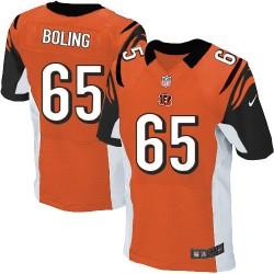 Cincinnati Bengals Clint Boling Official Nike Orange Elite Adult Alternate NFL Jersey