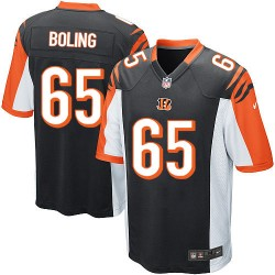 Cincinnati Bengals Clint Boling Official Nike Black Game Adult Home NFL Jersey