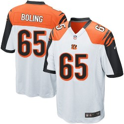 Cincinnati Bengals Clint Boling Official Nike White Game Adult Road NFL Jersey